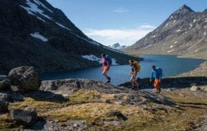 hiking through the svartdalen valley