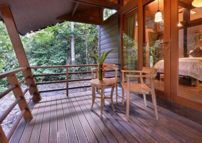 small borneo sukau rainforest lodge borneo villa balcony
